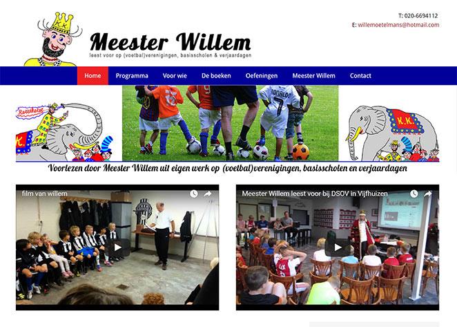 Wordpress website portfolio: Meester Willem  door Sophie Website
